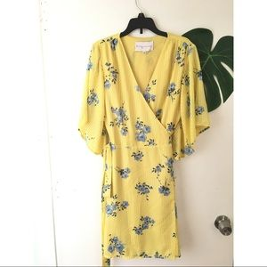 Charles Henry Floral Wrap Mini Dress Size Small